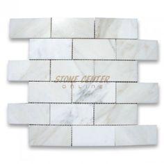 Calacatta Gold 2x4 Grand Brick Subway Mosaic Tile Polished