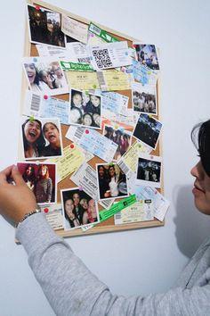 Memory board inspiration with Printiki prints.