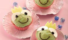 Froschkönig-Muffins für Kinder - Lockere Muffins mit Zuckerguss für Kinder