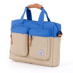 A perfect bag for what I need! Herschel Supply Co.: Totem Messenger Bag - Khaki / Cobalt