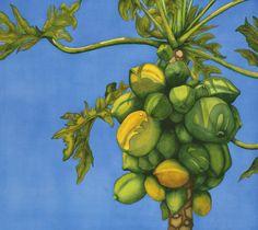 Art of Jolly Kornicks Papaya Passion Watercolor at ArtistRising.com