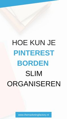 Tips interest organiseren Marketing Program, Online Marketing, Affiliate Marketing, Online Self, Tips Online, Instagram Blog, Pinterest Marketing, Social Media Tips, Blog Tips