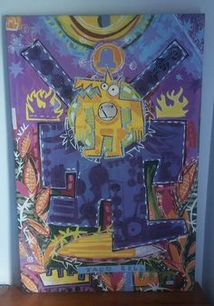 """Rare signed Mark T. Smith Taco Bell Print large 30-3/4"""" x 45-3/4"""" ON EMPTY"""