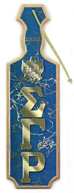 SIGMA GAMMA RHO DOMED PADDLE Sorority Outfits, Sorority Life, Royal Blue And Gold, Blue Gold, Masonic Gifts, Greek Paraphernalia, Greek Store, Sigma Gamma Rho, Custom Greek Apparel