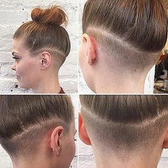 undercut with medium length hair on women - Google Search