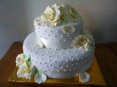 Torta belleza de rosas.