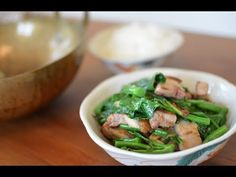 broccoli with crispy pork belly khana mu krop khana mu krop stir fried ...