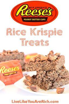 Reese's Peanut Butter Rice Krispie Treats- Must Try! #LiveLikeYouAreRich