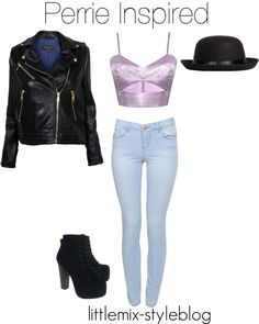 """""""*REQUESTED* Perrie Inspired with a Leather Jacket"""" by little-mix-fashion ❤ liked on Polyvore"""