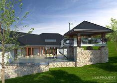 LK&942 to duży, bardzo reprezentacyjny #dom #parterowy z #piwnicą, w której znajduje się #garaż oraz strefa rekreacyja i pomieszczenia gospodarcze. Szczegóły #projektu znajdziecie na: http://lk-projekt.pl/lkand942-produkt-1652.html #architektura
