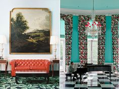 The Greenbrier, landmark hotel built in 1778 and revived after WWII by Dorothy Draper. 682 rooms in West Virginia