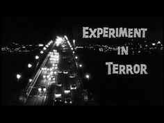 Experiment in terror movie title New Movies, Good Movies, Terror Movies, Film Score, Movie Themes, Title Card, A Star Is Born, Theme Song, Classic Movies