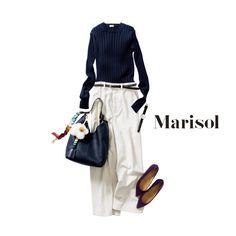 シンプルな白×紺コーデにはカスタマイズした旬バッグでカブり知らずMarisol ONLINE|女っぷり上々!40代をもっとキレイに。