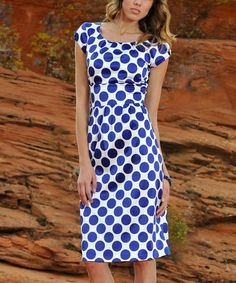 Look at this Blue Zoe Dress on #zulily today!