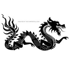 Chinese dragon vector graphics.