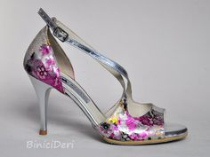 Women's tango shoe - Fuchsia Flower color