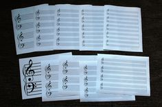 free printables - staff paper, recital programs, other neat stuff