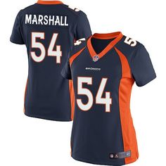 $24.99 Nike Elite Brandon Marshall Navy Blue Women's Jersey - Denver Broncos #54 NFL Alternate