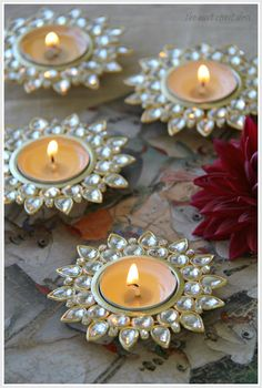 Crystal t-lights from Homesake.in (Image copyright  -The East Coast Desi - Sruthi Singh)