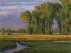 Summer Evening In Bishop by Joseph Mancuso Oil ~ 18 x 24