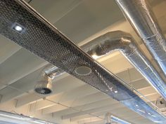Exposed ducting and cable trays