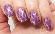 Purple Gem Nails for Nail Art Ideas Linkup #16 Diamonds