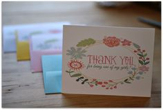 The perfect THANK YOU card for your bridal party!! { www.ilulily.etsy.com }