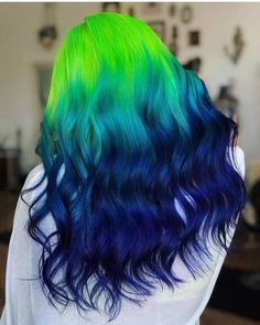 Vivid Hair Color, Pretty Hair Color, Beautiful Hair Color, Hair Color Purple, Hair Dye Colors, Blue Green Hair, Hair Mascara, Blue Ombre Hair, Violet Hair