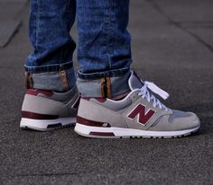 New Balance 565 – Grey / Burgundy