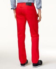 Armani Exchange Men's Straight-Fit Stretch Pants - Blue 33