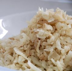 Low Carb Cauliflower Rice.  Simple, but easy! ;)