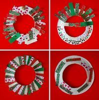 Paper Plate Christmas Wreaths - Things to Make and Do, Crafts and Activities for Kids - The Crafty Crow
