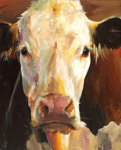 Cow Print Gladys  Paper or Canvas Giclee print by ArtPaperGarden, $24.00