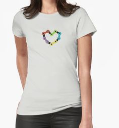 Bike Love by D & M MORGAN #cycling, #bike, #active, #lifestyle, #fit, #ride, #tshirts, #t-shirts, #love, #heart, #bikechain, #ridelikeagirl, #cyclist, #tourdefrance, #velo