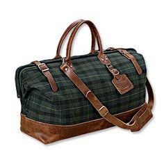 tartan luggage
