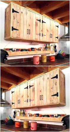 Diy Kitchen Cabinets From Pallets - Diy Kitchen Cabinets From Pallets, 30 the Pallet Projects Change Our Way Living Entire Modern Kitchen Made Out Pallets Pallets Pallet Board Cabinet Doors 10 Diy Furniture Made From Pallets Rustic Kitchen Cabinets, Kitchen Cabinet Doors, Kitchen Utensils, Kitchen Decor, Kitchen Rustic, Country Kitchen, Kitchen Themes, Kitchen Furniture, Rustic Cabinet Doors