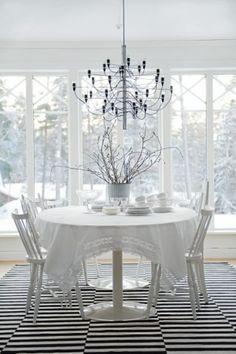 white scandinavian house, está de moda lo blanco (como si no hubiera bastante blanco en invierno)