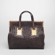 3810b67375 bottega veneta nero waxed python bag