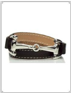 Dimacci Alba Exklusiv Leather Snaffle Bit Bracelet - 001-AE-31