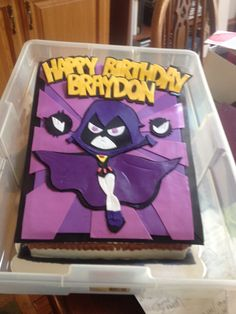 teen titans cake - need this as Starfire Teen Birthday, 6th Birthday Parties, Birthday Cake Girls, Birthday Cakes, Birthday Ideas, Teen Titans Go Characters, Beanie Boo Birthdays, Raven Teen Titans Go, Diy For Kids