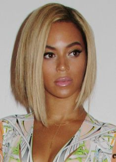 Beyonce sleek bob hairstyle. (I like the cut, don't think I would try to go blonde)