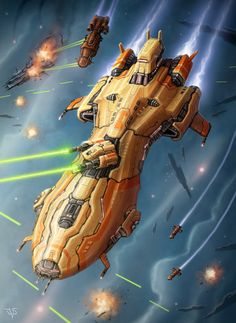 Douglas Adams' Hitchhiker's Guide to the Galaxy features the spaceship named Heart of Gold Spaceship Art, Spaceship Design, Space Fantasy, Sci Fi Fantasy, Concept Ships, Concept Art, Stargate, Sci Fi Rpg, Starship Concept