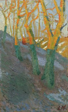 Such perfect trees by Kasimir Malevich. Russian (1878 - 1935), via @_blacha_