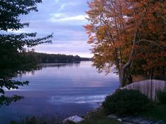 South end of China Lake, Maine (I loved fishing here as a kid ...