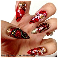 Lunar New Year 2013, year of the Snake! Nails by Terry
