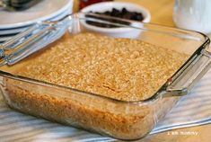 Baked oatmeal...sounds yummy!  Wonder if I could cut it into squares and eat it on the go?