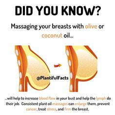 THE TECHNIQUE: Warm your hands by rubbing them with or without oil. Now, gradually rub them in circles around your breast. Health Facts, Health And Nutrition, Health Fitness, Fitness Tips, Nutrition Tips, Home Health Remedies, Natural Health Remedies, Herbal Remedies, Natural Health Tips