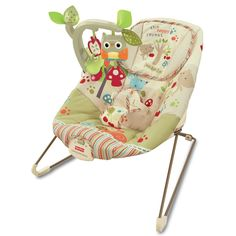 Fisher-Price Woodsy Friends Comfy Time Bouncer: Amazon.co.uk: Baby