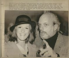 Photo Director Hal Prince With Actress Glenn Close