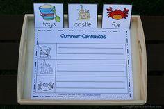 Montessori-Inspired Beach Language Activities